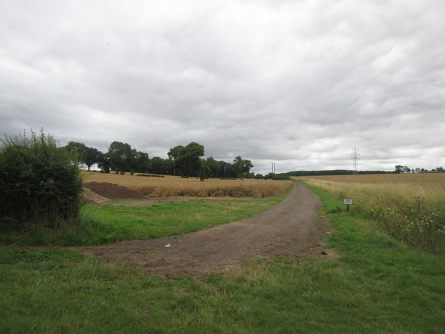 Private road towards Leyfields Farm