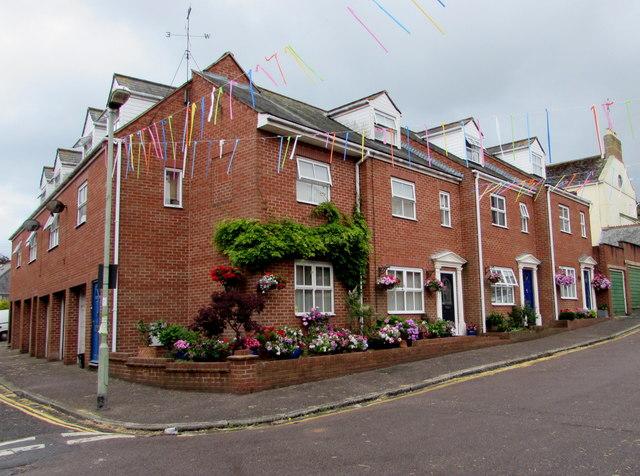 Redbrick houses, Bicton Street, Exmouth