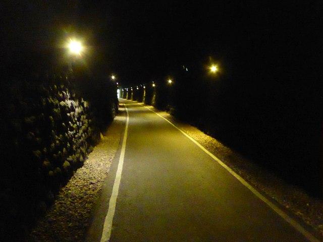 Cyclepath in former railway tunnel