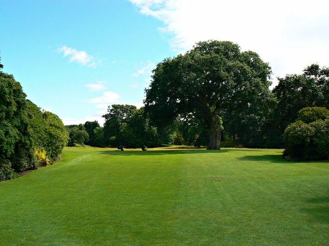 Lawn south of Bodnant House, Bodnant Gardens