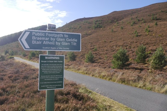 Scottish Rights of Way Society sign, Glen Feshie
