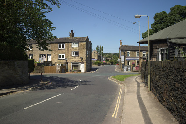 Knowle Top Road junction with Leeds Road, Lightcliffe