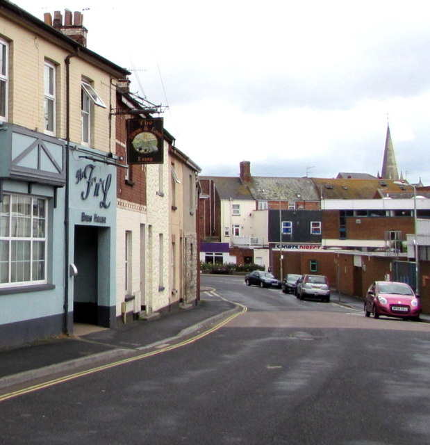 West along Church Street, Exmouth