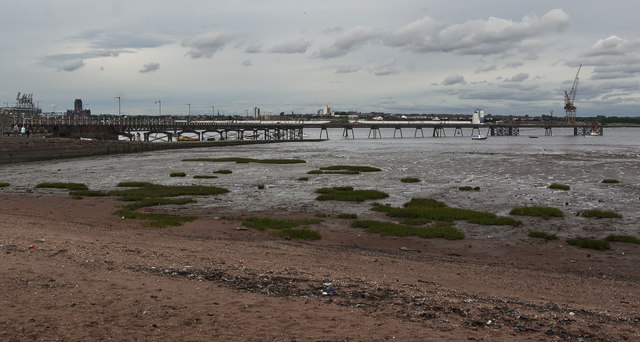 What's left of Rock Ferry Pier