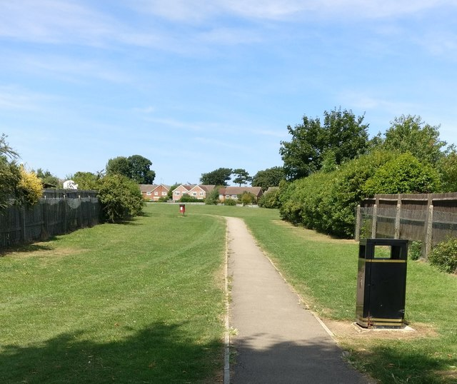Path to a recreation ground