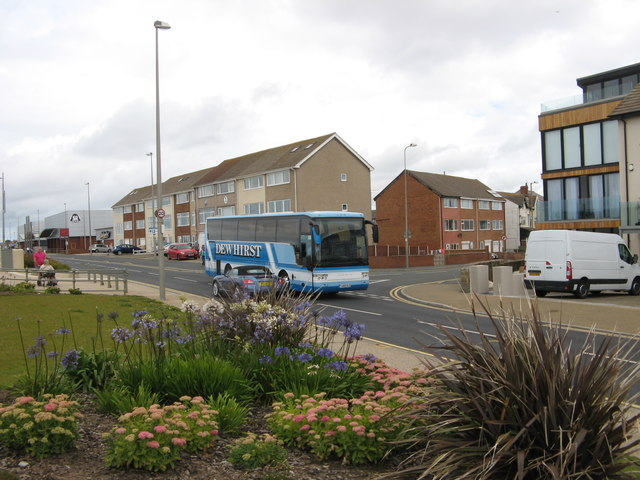 Coach on North Promenade, Cleveleys
