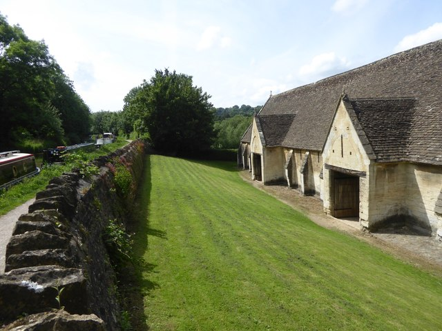 The Tithe Barn, Bradford-on-Avon, and canal
