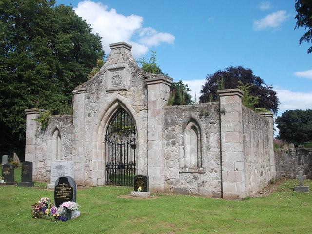 Dalrymple-Horn-Elphinstone burial enclosure, Logie-Durno old kirkyard