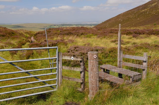 Gate and stile, Cauldstane Slap