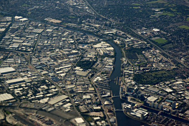 Salford Quays, Manchester from the air