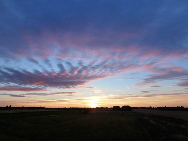 Twilight over Wisbech St Mary