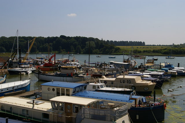 Moorings on the River Deben, Woodbridge