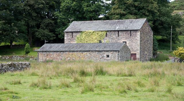Barns west of Bampton