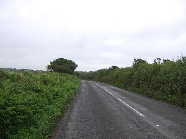 Tolroy Road (B3302) towards St Erth Praze