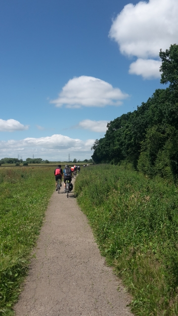 Riverside cycle path