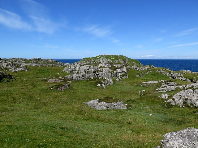 Dun Mor from south-east