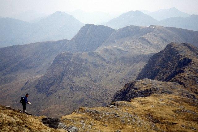 Southeast ridge of Ladhar Bheinn