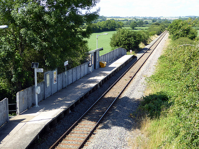 Looking down on Chetnole Station