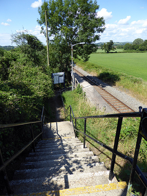 Steps leading down to Chetnole Station