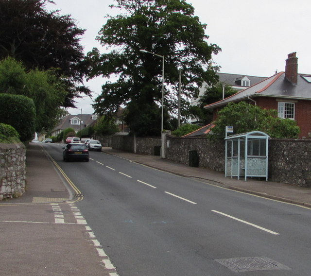 Salterton Road bus stop and shelter, Exmouth