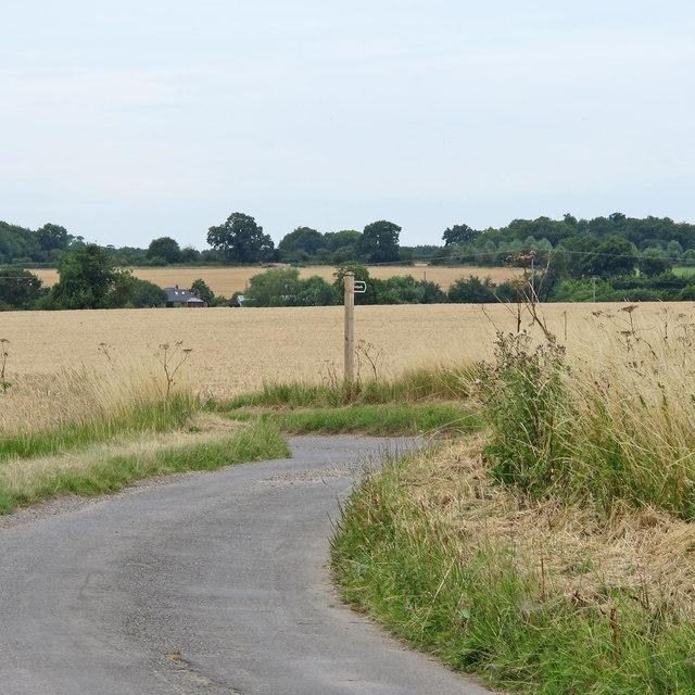 Footpath Signpost near Marsh Lane Farm, Mutford