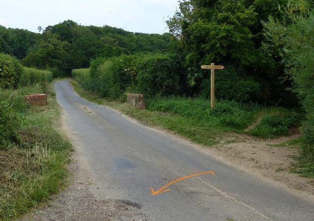 Peddars Way crossing Fring Road