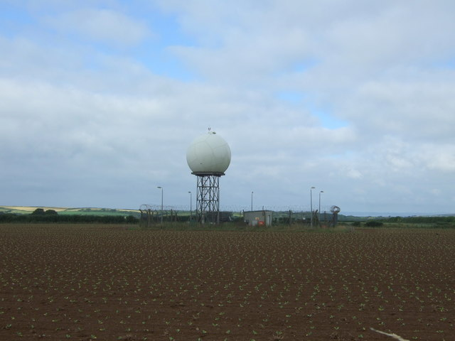 Radar dome near RNAS Culdrose