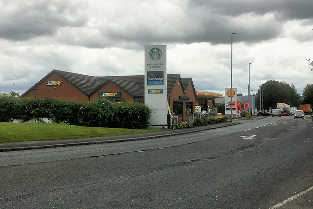 Middlewich Service Area on Holmes Chapel Road