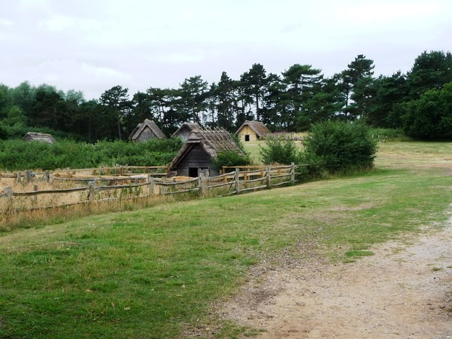 Pigsty on the edge of West Stow Anglo-Saxon village