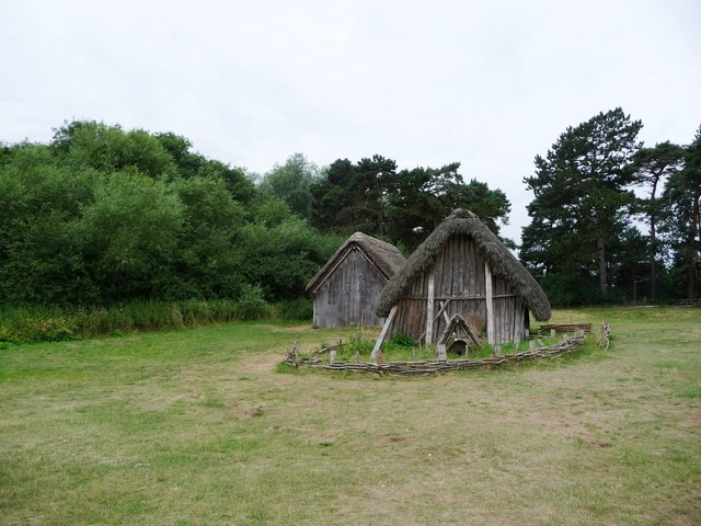 House and 'garden', West Stow Anglo-Saxon village