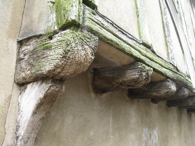 Timber-framed building detail