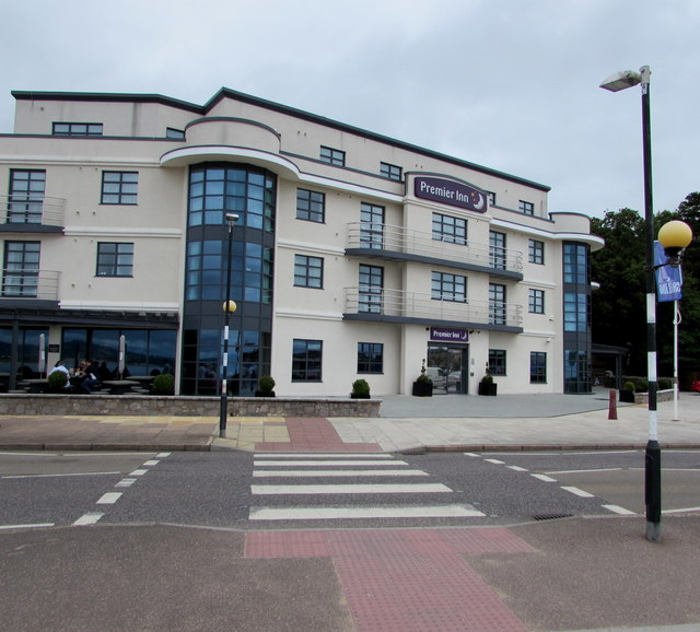 Zebra crossing to the Premier Inn, Exmouth
