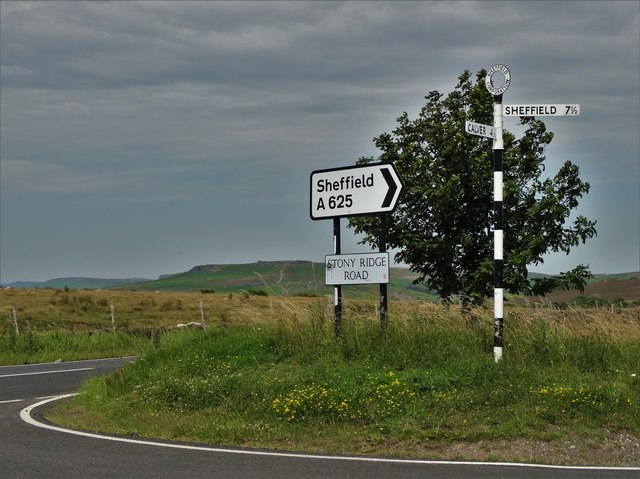 Junction of Owler Bar Road and Stony Ridge Road