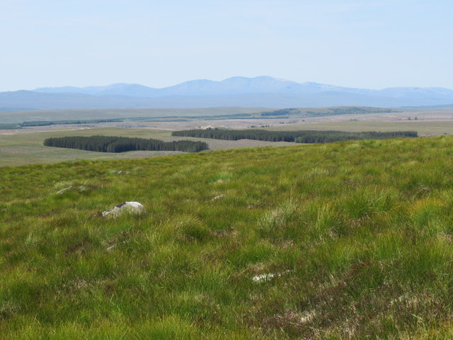 View south-west from Sron Leathad Chleansaid near Lairg