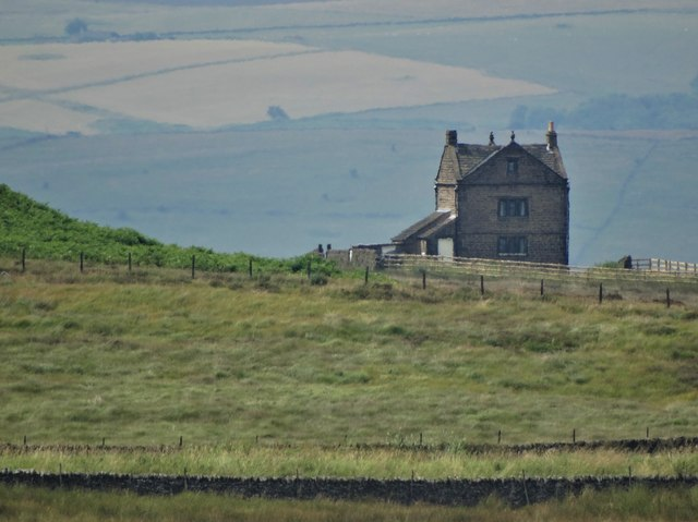 White Edge Lodge seen from Totley Moss