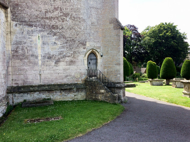 Across the west face of St Mary's, Painswick