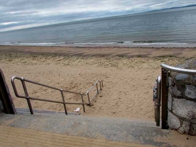 Steps down to the beach, Exmouth