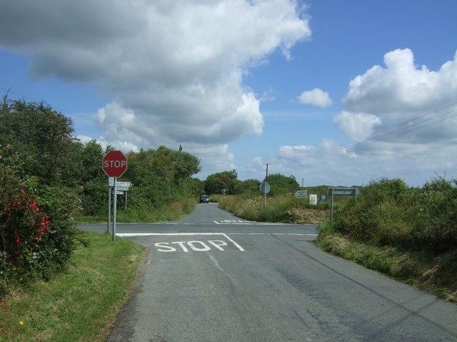 Crossroads near Mount Carlees