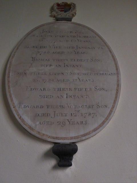 St Oswald, Hooe: memorial (b)
