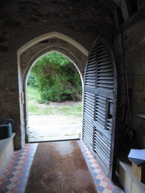 St Oswald, Hooe: entrance