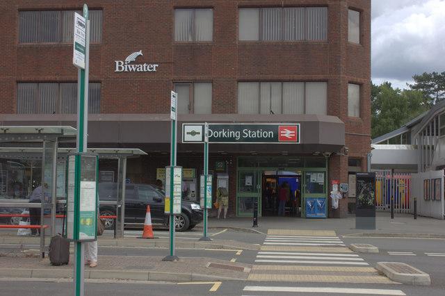 Dorking station entrance
