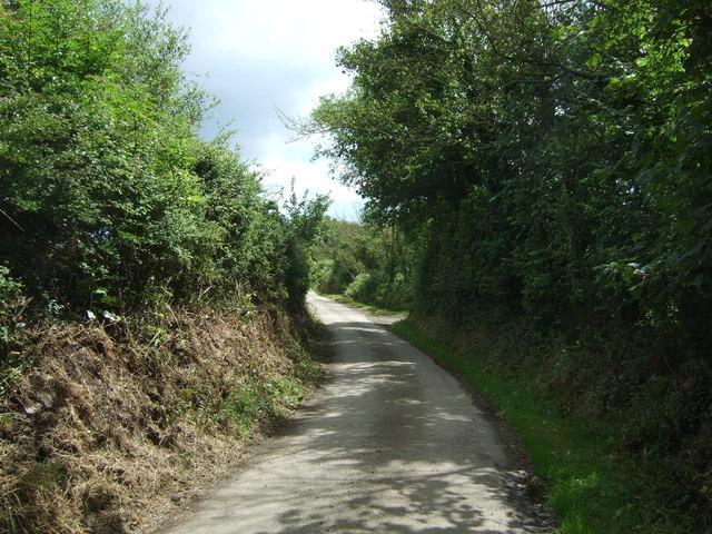 Lane heading east from Trerise