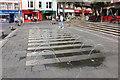 SH4762 : The Dancing Fountain in Castle Square, Caernarfon by Jeff Buck