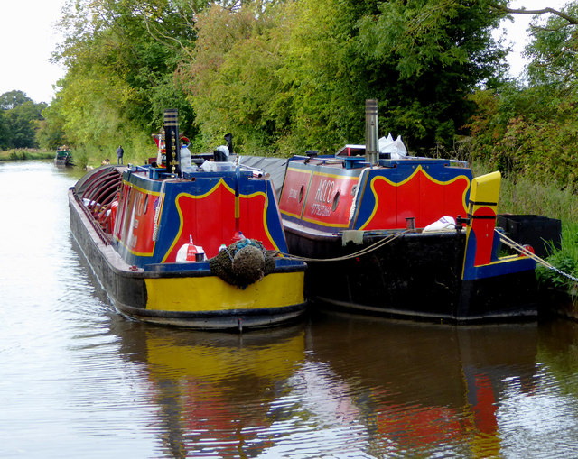 Working boats above Marbury Lock in Cheshire