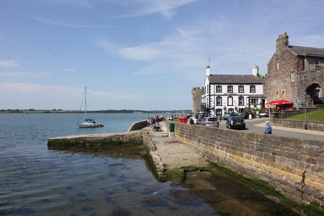 The Harbour Front at Caernarfon