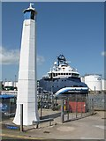 NJ9505 : East Leading Light, Sinclair Road, Torry, Aberdeen Harbour by G Laird