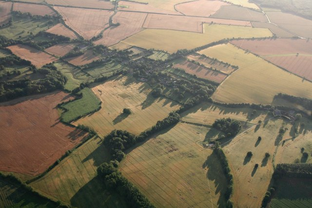 Fields around Skendleby: aerial 2017