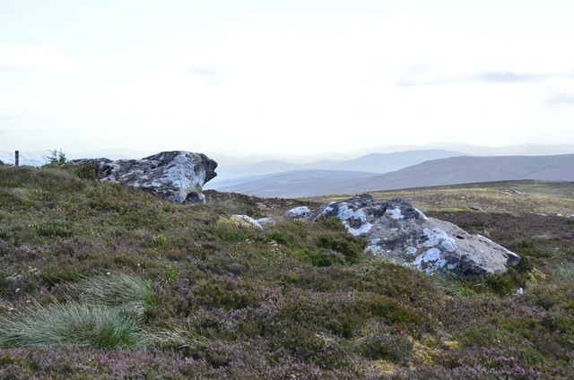 Rock outcrops in the heather