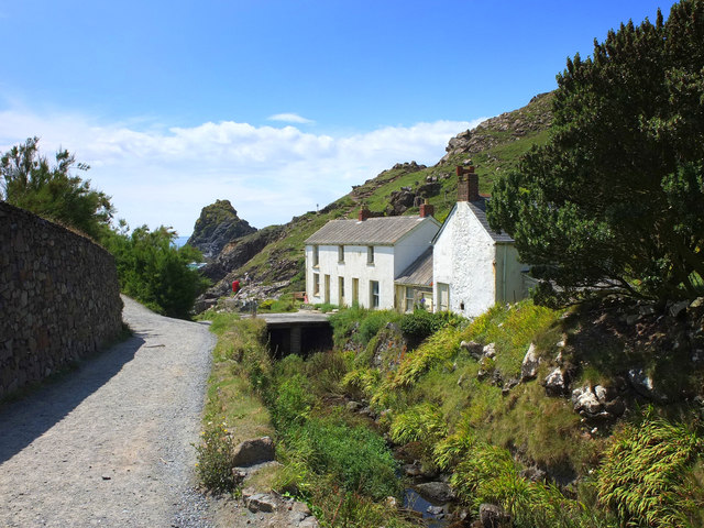Condemned cottages at Kynance Cove