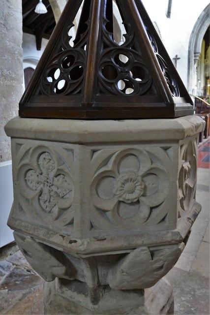 North Marston, St. Mary's Church: The font 5